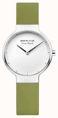 Bering Ladies Max René Interchangeable Green Rubber Strap 15531-800