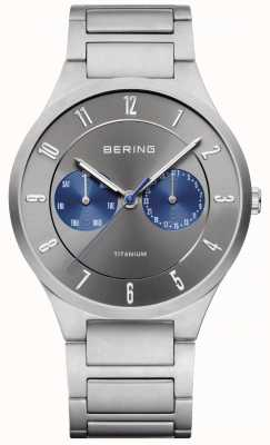 Bering Mens Titanium Grey Chronograph Watch 11539-777