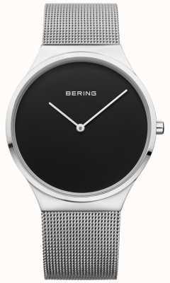 Bering Mens Classic Milanese Mesh Black Face 12138-002