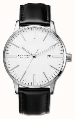 Panzera Breuer 44 Arctic Spirit Black Leather Watch B44-02DB
