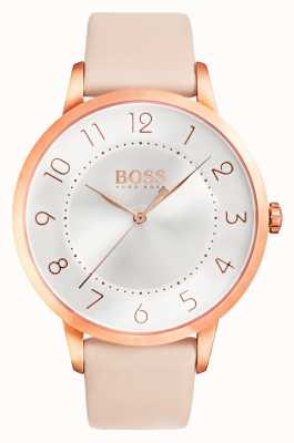 Hugo Boss Ladies Eclipse Pink Leather Watch 1502407