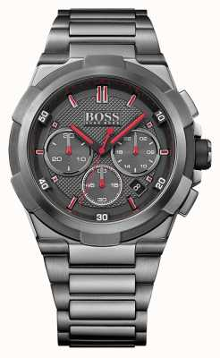 Hugo Boss Mens Supernova Grey Stainless Steel Watch 1513361