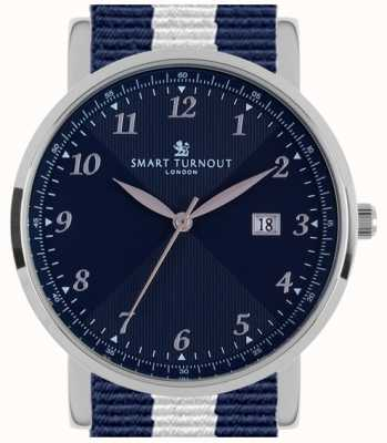 Smart Turnout Savant Watch Silver Navy With Yale Strap STH5/SN/56/W