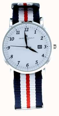 Smart Turnout Savant Watch Silver White With Harvard Strap STH5/SW/56/W