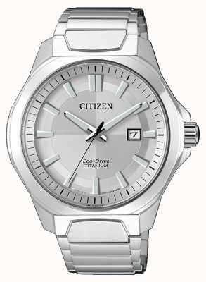 Citizen Mens Eco-Drive Super Titanium Silver watch AW1540-88A