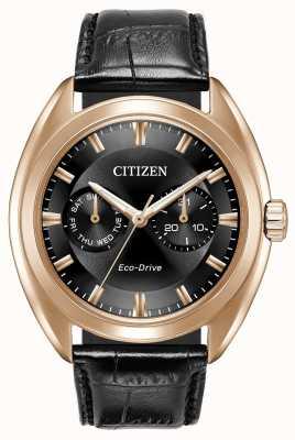 Citizen Mens Eco-Drive Paradex Black Leather BU4013-07H