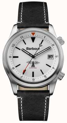 Barbour Mens Seaburn White Black Leather BB059WHBK