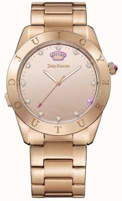 Juicy Couture Womans Malibu Connect Rose Gold Smartwatch 1901501