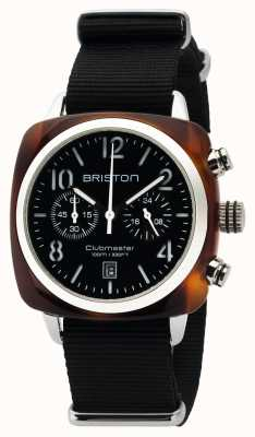Briston Mens Clubmaster Classic Acetate Chrono Tortoise Shell Black 16140.SA.T.1.NB