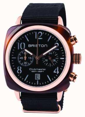 Briston Mens Clubmaster Classic Acetate Chrono Black 14140.PRA.T.1.NB