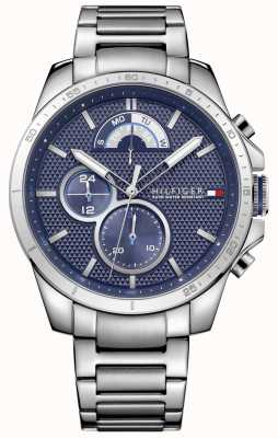 Tommy Hilfiger Mens Stainless Steel Blue Chrono 1791348
