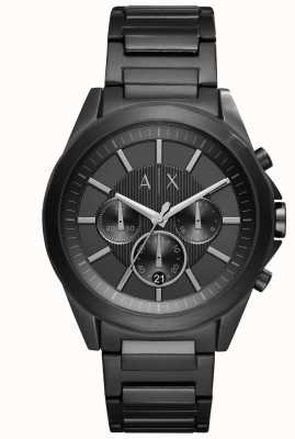 Armani Exchange Mens Black Iron-Plated Steel AX2601