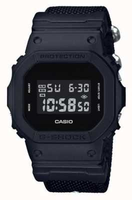 Casio Mens G-Shock Black Out Cloth Strap DW-5600BBN-1ER