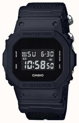 Casio Mens G-Shock Black Out Cloth Strap DW-5600BBN-1ER