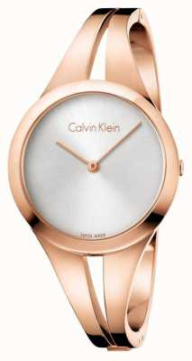 Calvin Klein Womans Addict Rose Gold Bangle K7W2M616