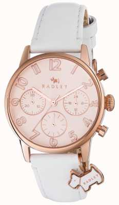 Radley Womans Electric Avenue White Leather Chrono RY2462