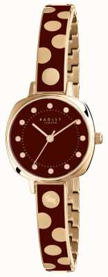 Radley Womans Kennington Spot Enamel Burgundy RY4274