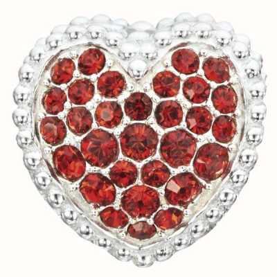 Chamilia Sterling Silver W Stone Red Kiss Me 2020-0786