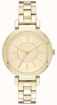 DKNY Womans Ellington Steel Gold Watch NY2583