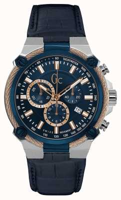 Gc Mens Cableforce Chronograph Blue Y24001G7