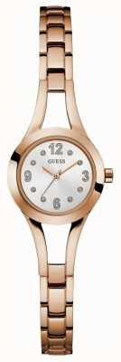 Guess Womans Evie Steel Rose Gold Bracelet W0912L3