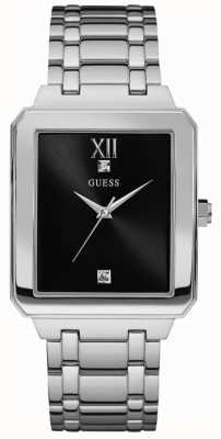 Guess Mens Highrise Stainless Steel Black Dial W0917G1