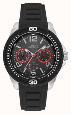 Guess Mens Tread Black Strap Black Dial W0967G1