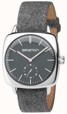 Briston Mens Clubmaster Vintage Grey Dial Grey Fabric Strap 17440.PS.V.17.LFG