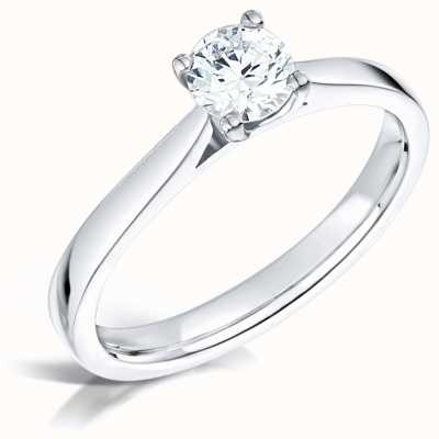 Certified Diamond 0.40ct D SI1 GIA Diamond Engagement Ring FCD28361