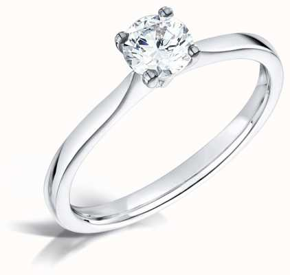 Certified Diamond 0.41ct H SI1 IGI Diamond Solitaire Engagement Ring FCD28359