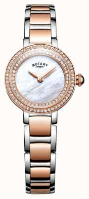 Rotary Womans Stone Set Two Tone Cocktail Watch LB05086/41L