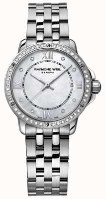 Raymond Weil Womans Tango Stainless Steel Mother Of Pearl Dial 5391-STS-00995