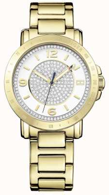 Tommy Hilfiger Womens Liv Gold Tone Steel Silver Dial 1781623