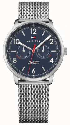 Tommy Hilfiger Mens Will Stainless Steel Mesh Blue Dial 1791354