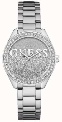 Guess Womens Glitter Girl Stainless Steel Bracelet W0987L1