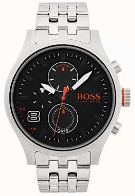 Hugo Boss Orange Mens Amsterdam Black Stainless Steel 1550024