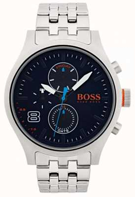 Hugo Boss Orange Mens Amsterdam Black Stainless Steel 1550023