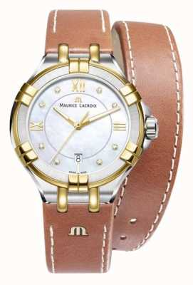 Maurice Lacroix Womans Aikon Quartz Brown Leather AI1004-PVY13-171-1