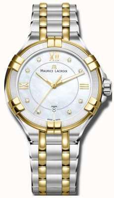 Maurice Lacroix Womans Aikon Quartz Two Tone Bracelet AI1004-PVY13-171-1