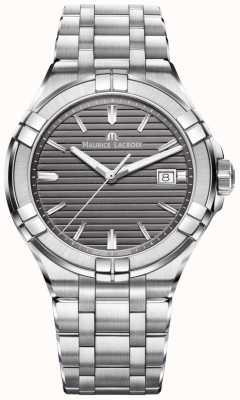 Maurice Lacroix Mens Aikon Quartz Stainless Steel Grey AI1008-SS002-332-1