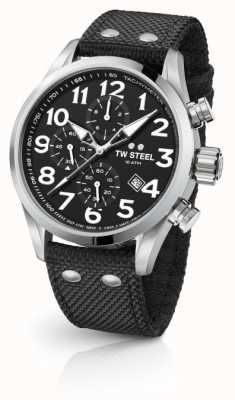 TW Steel Mens Volante Black 48mm Chronograph VS4