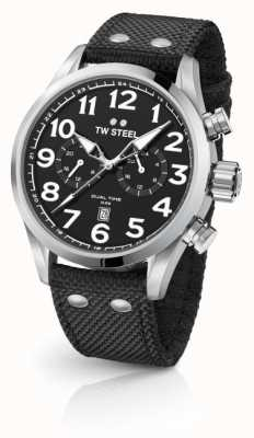 TW Steel Mens Volante Black 45mm Dual Time VS7