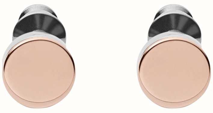 Skagen Womens Stainless Steel Rose Gold Plated Stud Earrings SKJ0959998