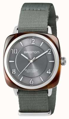 Briston Unisex Clubmaster Chic Grey Acetate Steel With Nato Strap 17536.SA.T.11.NG