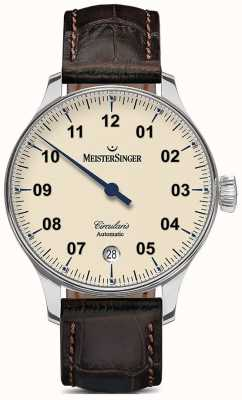 MeisterSinger Mens Circularis Automatic Ivory CC903