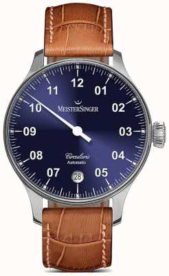 MeisterSinger Men's Circularis Automatic Sunburst Blue CC908