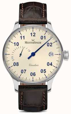MeisterSinger Men's Circularis Power Reserve Hand Wound Ivory CCP303