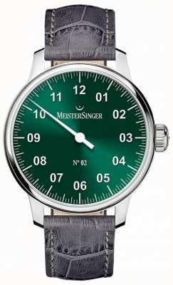 MeisterSinger Mens Classic No. 2 Hand Wound Sunburst Green AM6609N