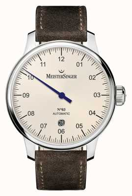 MeisterSinger Men's Classic No. 3 Automatic 40mm Ivory DM903