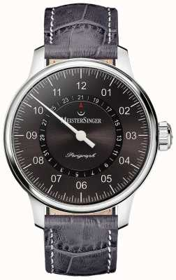 MeisterSinger Mens Classic Plus Perigraph Automatic Sunburst Anthracite AM1007